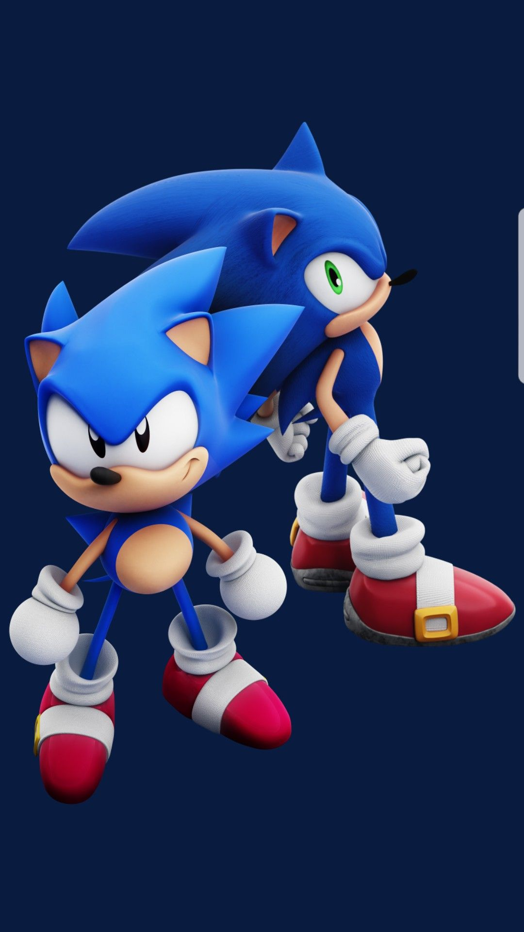 Classic And Modern Sonic Classic Sonic Sonic The Hedgehog