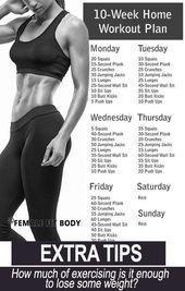 Trainingsplan für zu Hause ohne Fitnessstudio. - #Fitnessstudio #für #Hause #o... - Fitness -   #Fit...