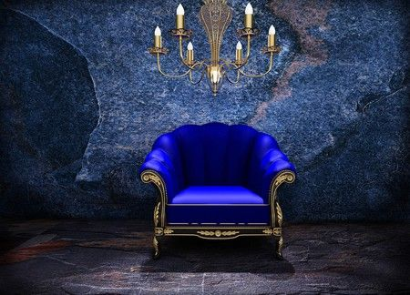 Pretty In An Eery Sort Of Way Blue Chair Chair Photography Custom Backdrop