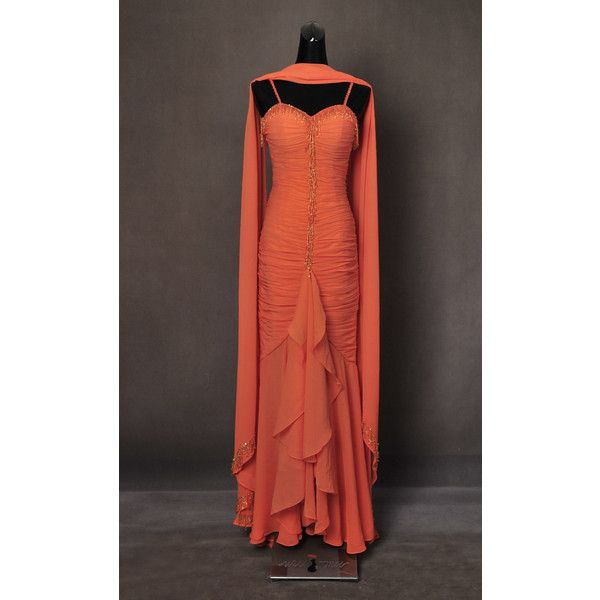 Marilyn Monroe Gentlemen Prefer Blondes Orange Ball Gown Dress ...