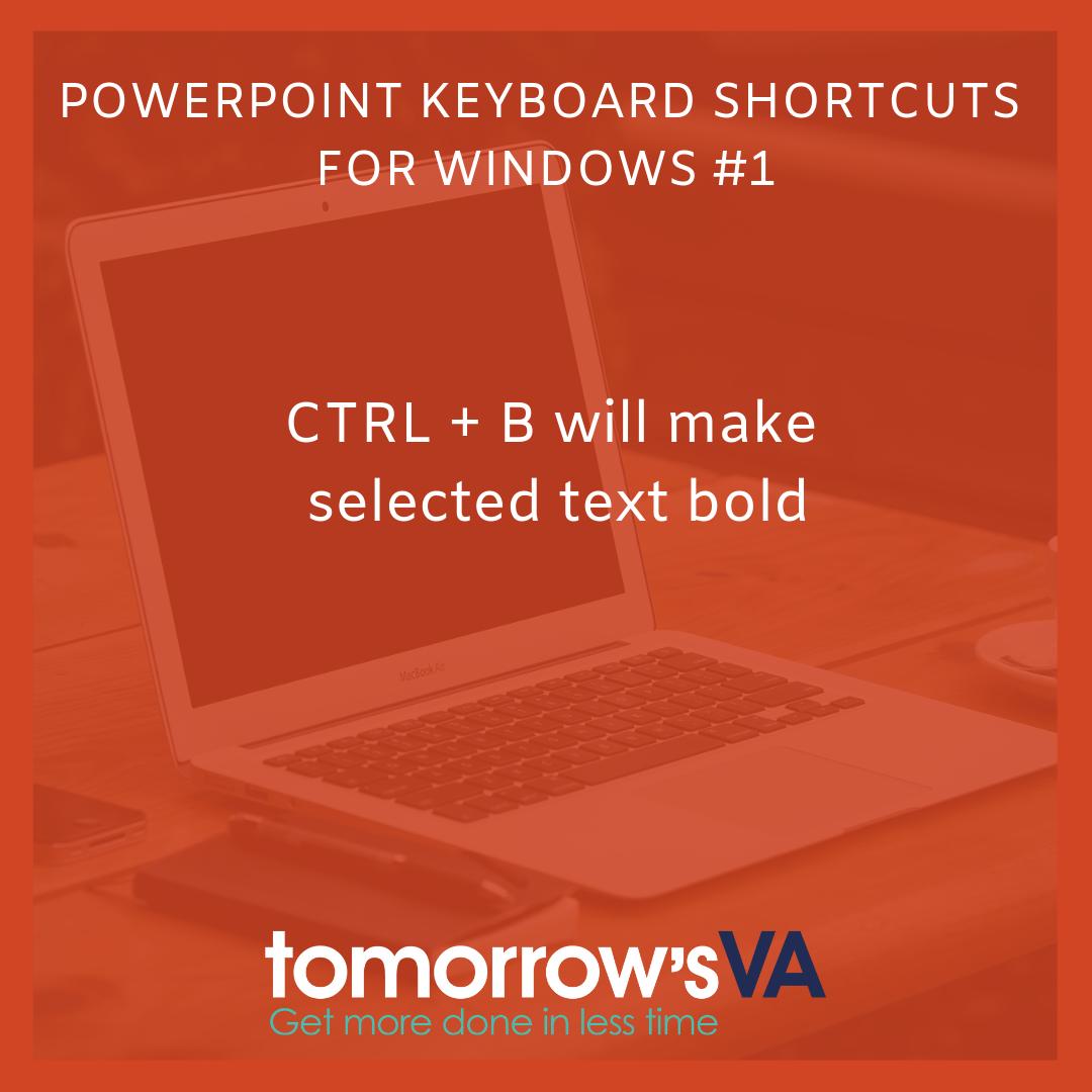 powerpoint 2016 for windows keyboard shortcuts