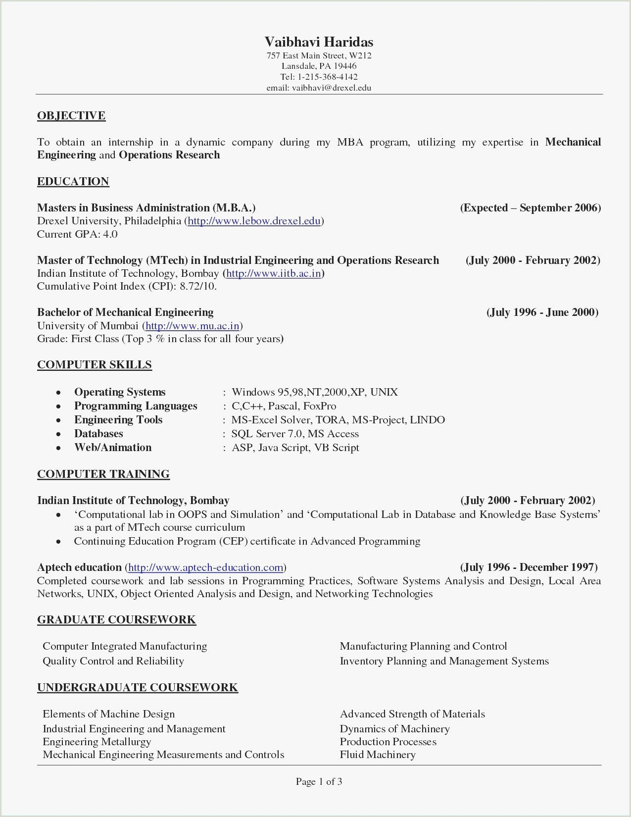 Objective In A Resume For Hairdressing