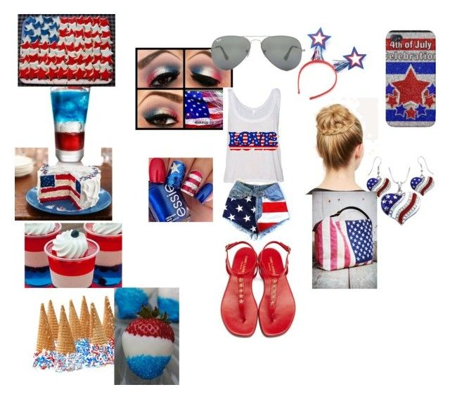 """""""July 4th 2015"""" by victaletdjamba ❤ liked on Polyvore featuring Yves Saint Laurent and Ray-Ban"""