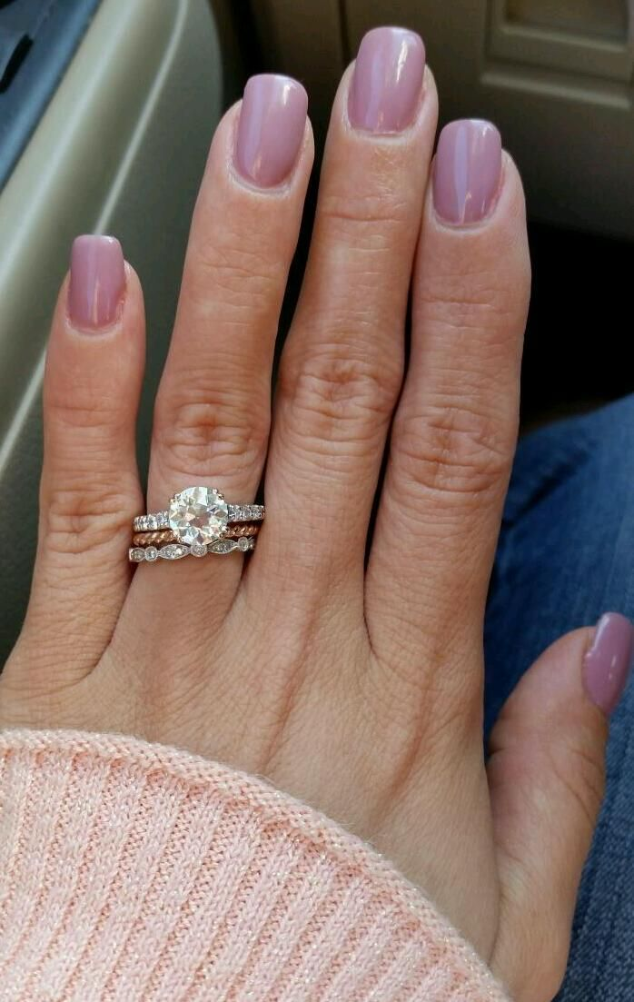 Princess cut engagement ring with round wedding band google stacked wedding ring styles thatll leave you breathless mon cheri bridals junglespirit Choice Image