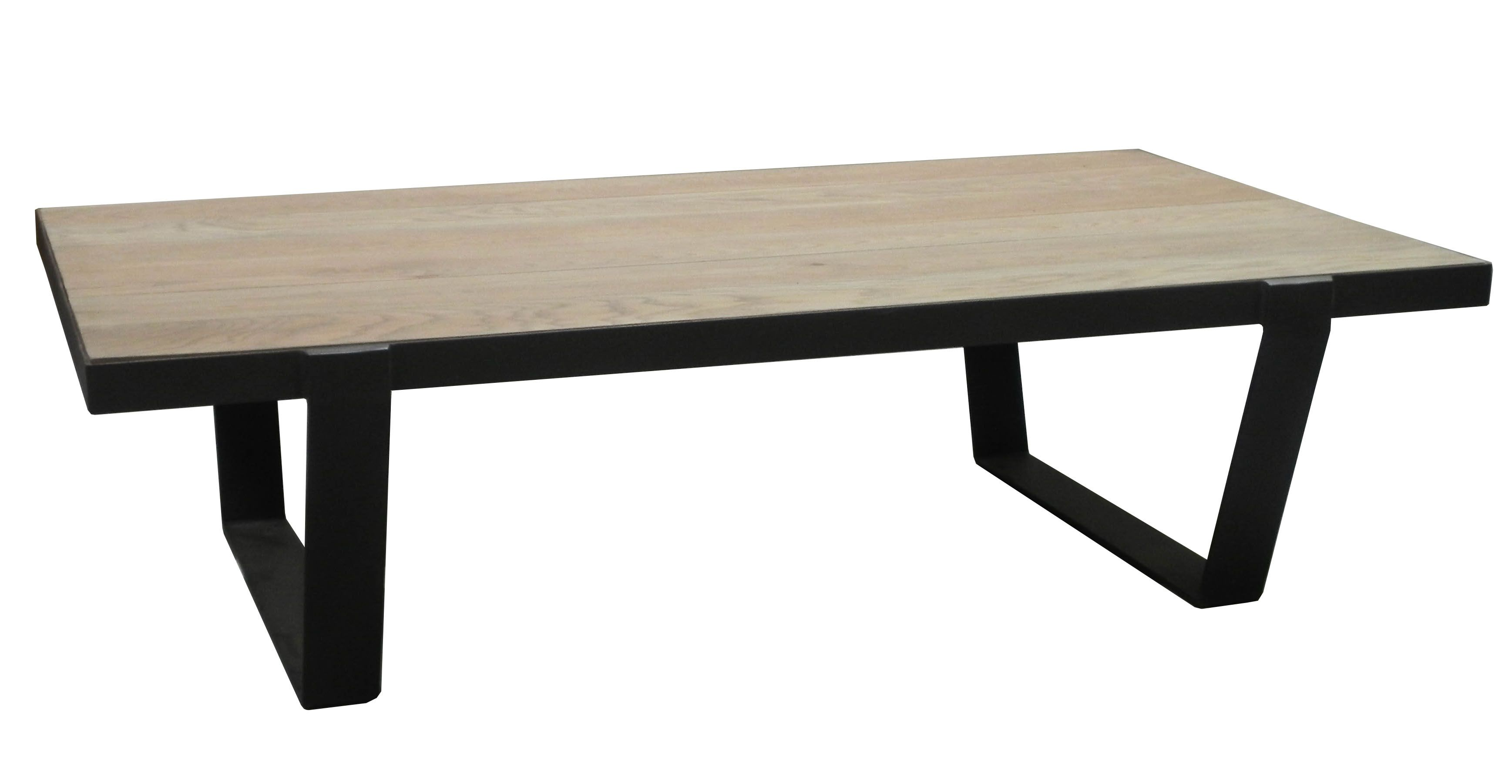 Table Basse Chêne Massif Métal Soomaa Réf 30020862 Table