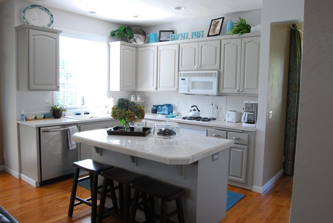 kitchen grey cabinets white appliances regarding gray light wooden brown marbel floor black on kitchen cabinets grey and white id=63894
