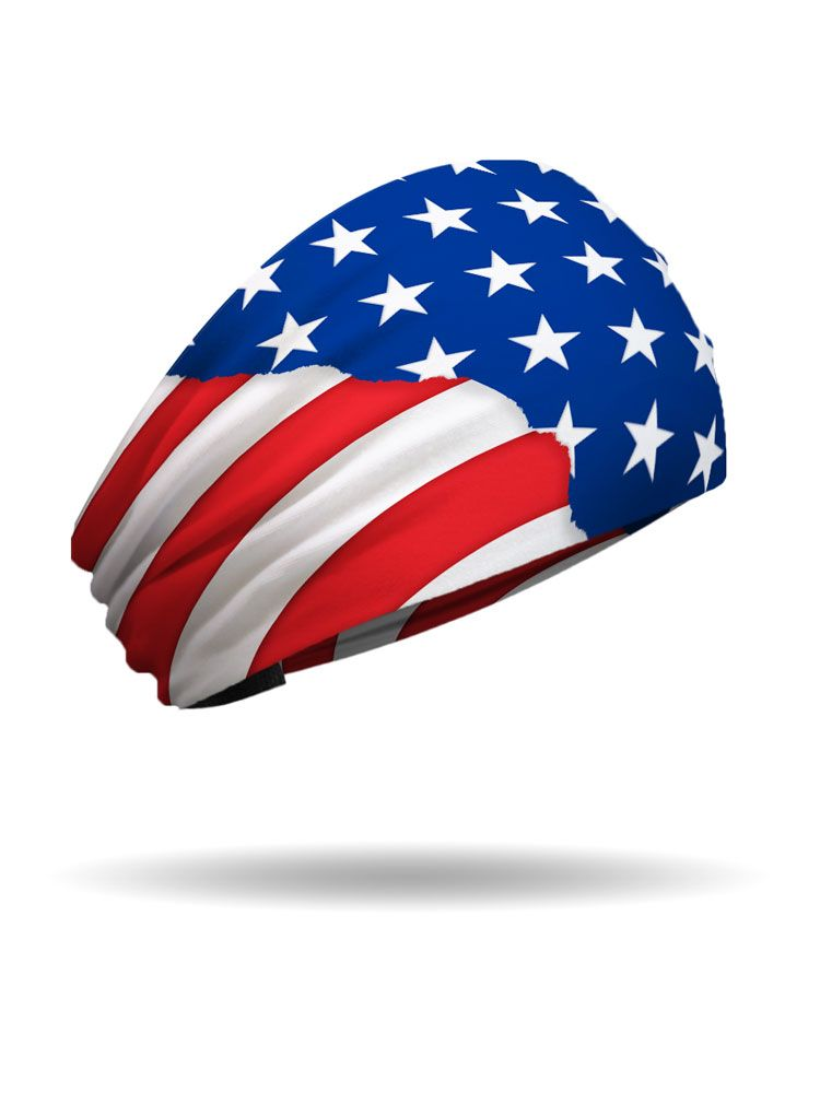 2956b2fc2541 Born In The USA Knotty Band - Show your patriotic spirit with our headband  that is an American Made product bearing our symbol