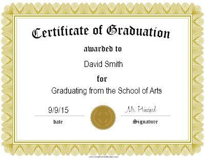 Gold Certificate Of Graduation Certificate  Inzimam