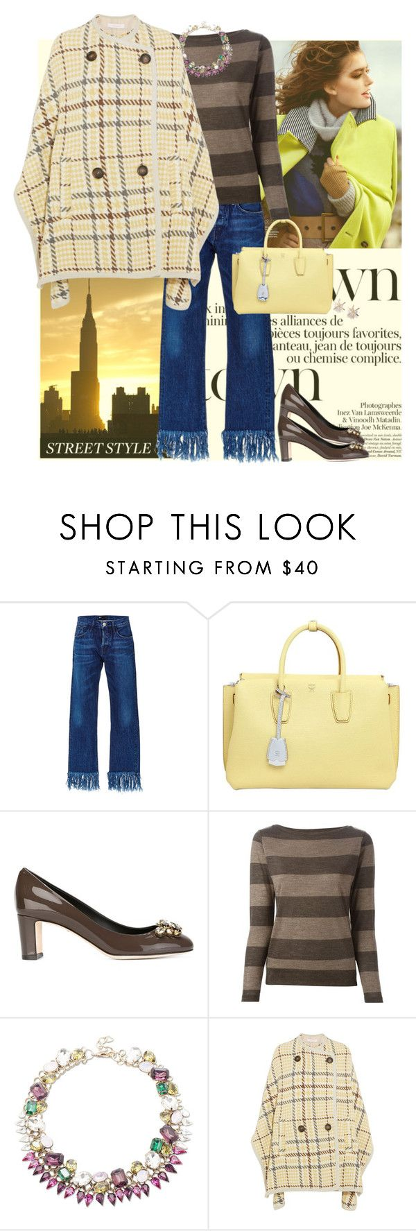 """Street Style"" by musicfriend1 ❤ liked on Polyvore featuring Olsson, 3x1, MCM, Dolce&Gabbana, Eleventy, Sole Society, See by Chloé, women's clothing, women and female"