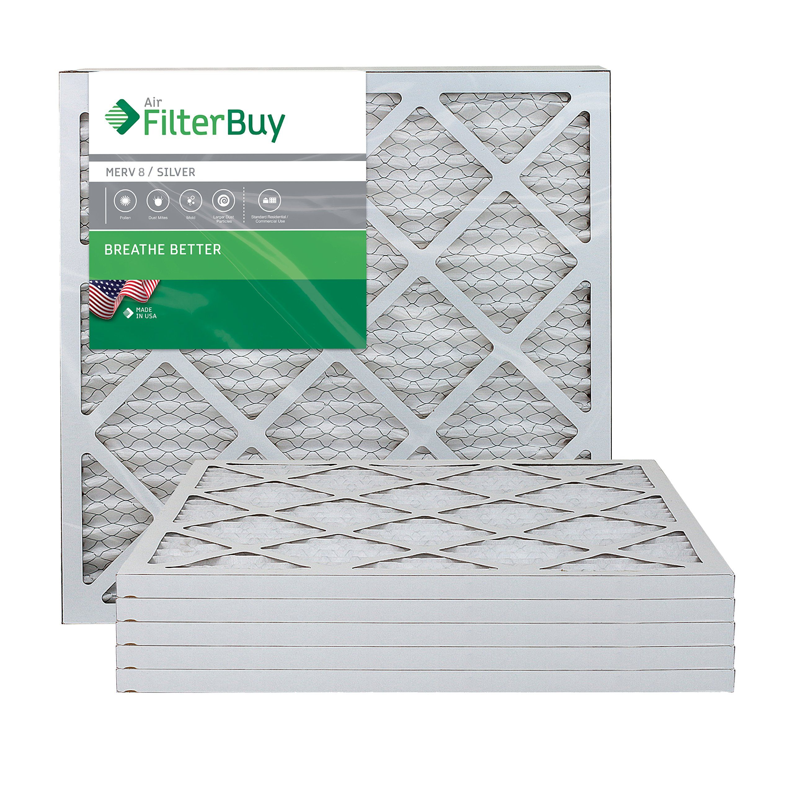 FilterBuy 20x22x1 MERV 8 Pleated AC Furnace Air Filter