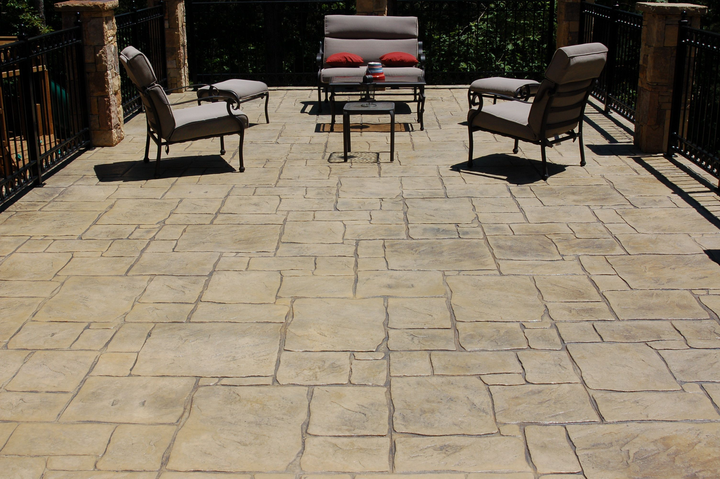 Attractive Decorative Concrete, Backyard Ideas, Terrace, Swim, Patios, House Porch,  Swimming, Patio, Terraces