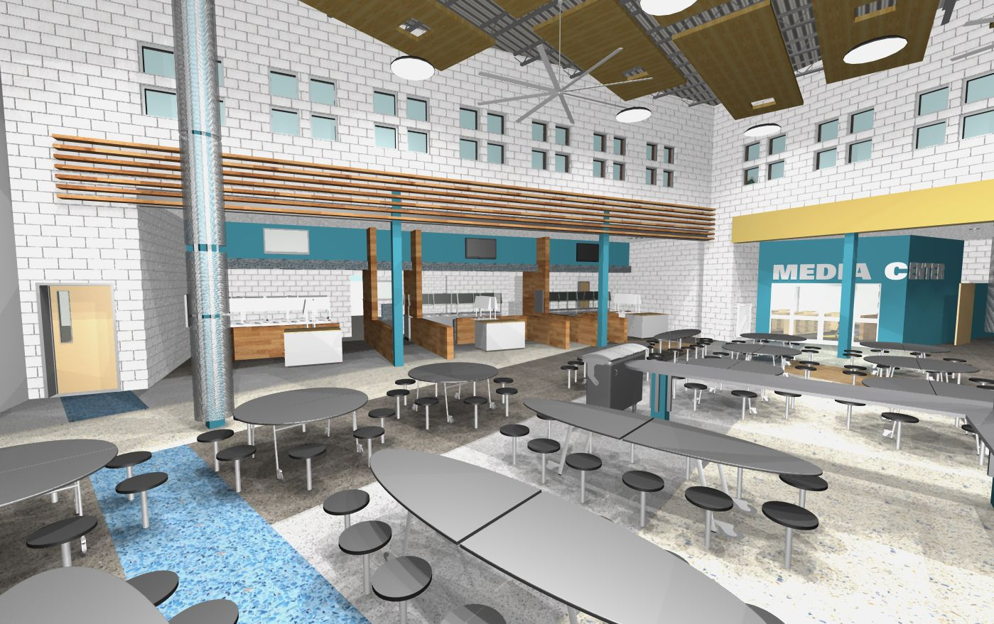 school cafeteria design - Google Search | Cafeteria design ...