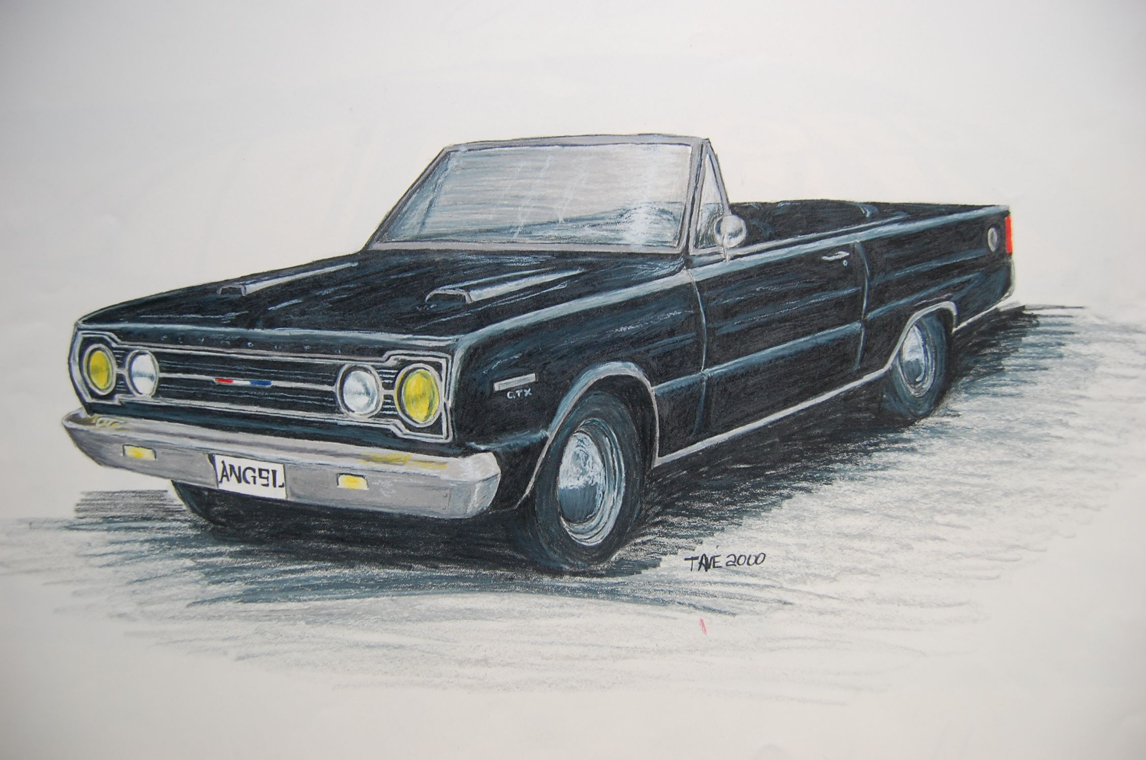1967 Plymouth GTX (car Angel drives) | Car Drawings | Pinterest