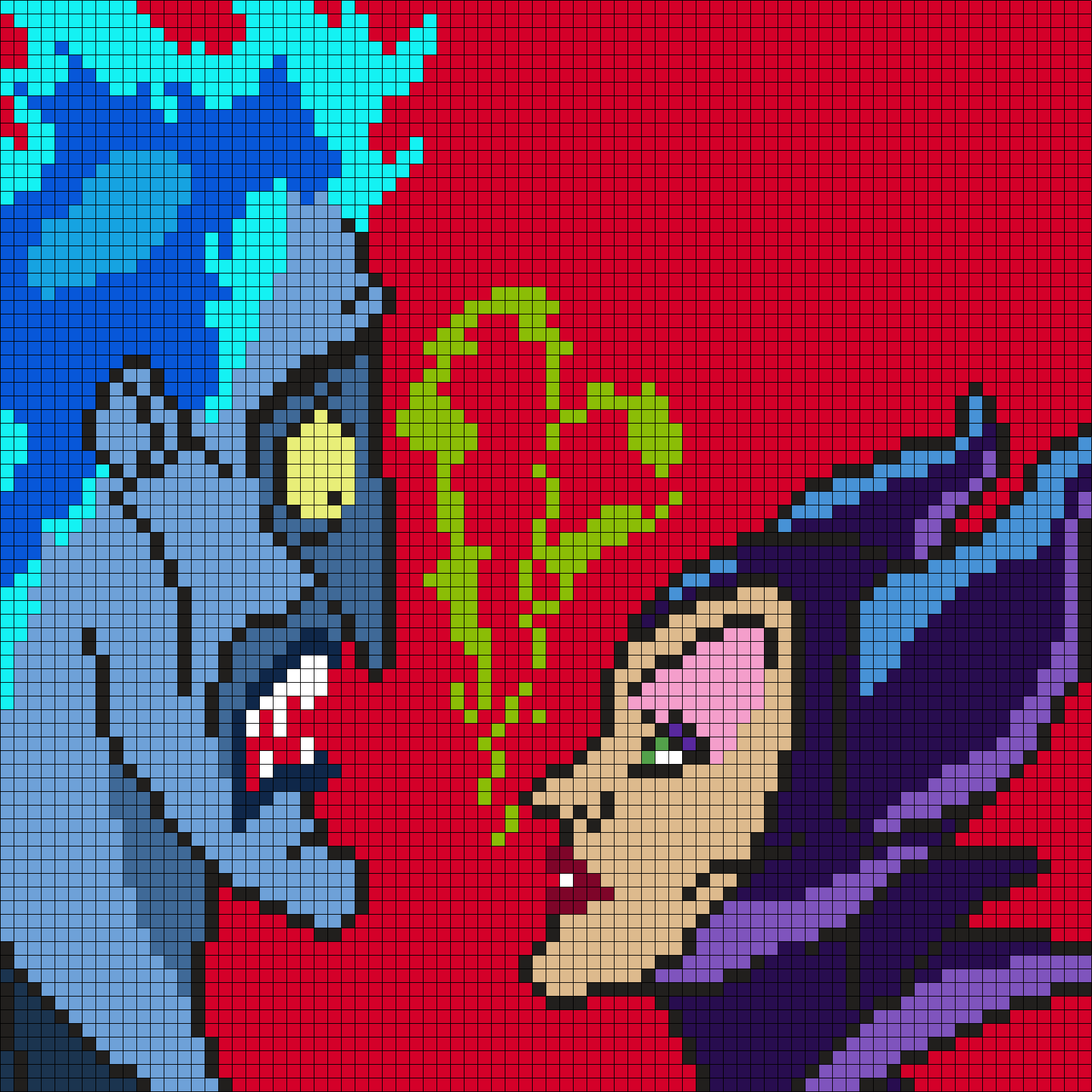 Hades And Maleficent (Square) by Maninthebook on Kandi Patterns