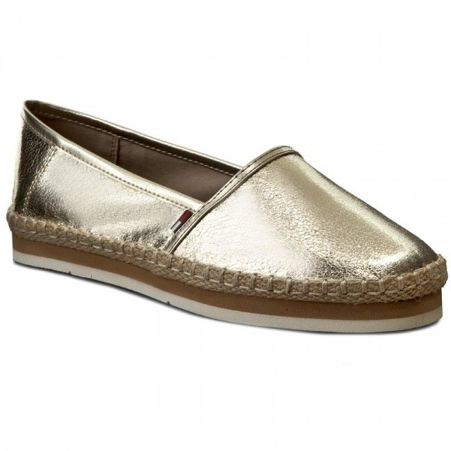 Espadrilky TOMMY HILFIGER - DENIM Spy 1Z FW0FW00797 Light Gold 704