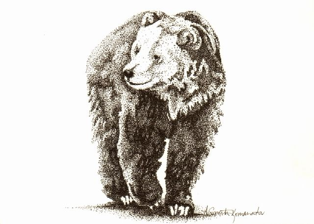Drawing With No Lines : Grizzly stipple also know as pointillism there are absolutely no