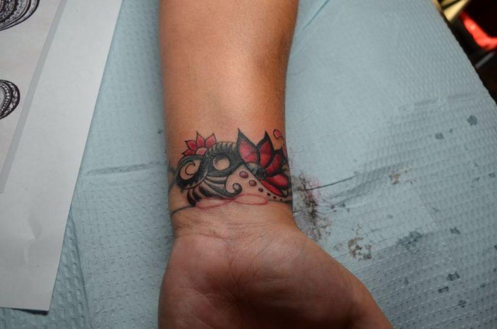 Nice rose flower tattoo on wrist wrist tattoo cover up