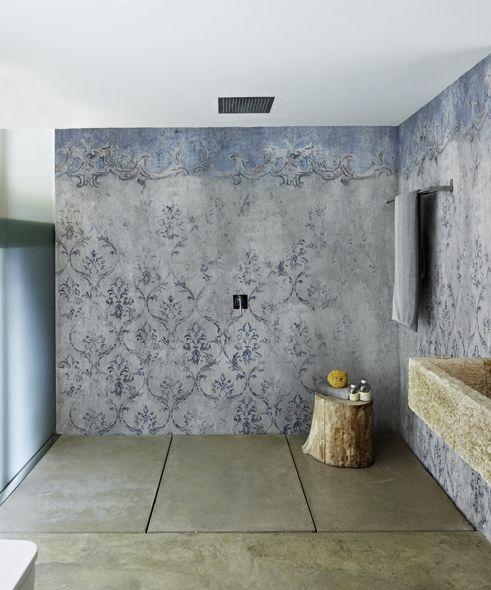 Waterproof Wallpaper For Bathroom And Or Kitchen Backsplash Wall Deco