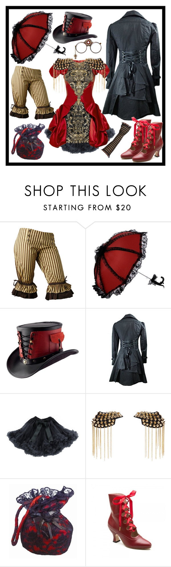 Steampunk by justange on Polyvore featuring Boohoo, women's clothing, women's fashion, women, female, woman, misses and juniors