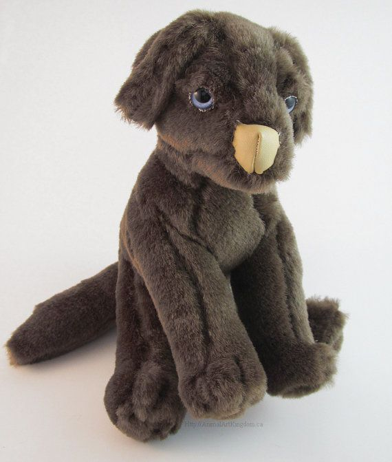 Baby Puppy Chocolate Lab Stuffed Animal Plush Toy Brown Dog Pet