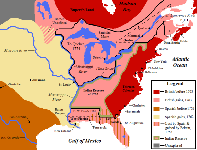 Map of the french and indian war exploring people exploring map showing north american territorial boundaries leading up to the american revolution and the founding of the united states british claims are indicated gumiabroncs Choice Image