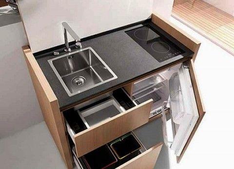 Cocinas Compactas Para Espacios Reducidos Buscar Con Google Ahorradores De Espacio De Cocina Disenos De Unas Interiores