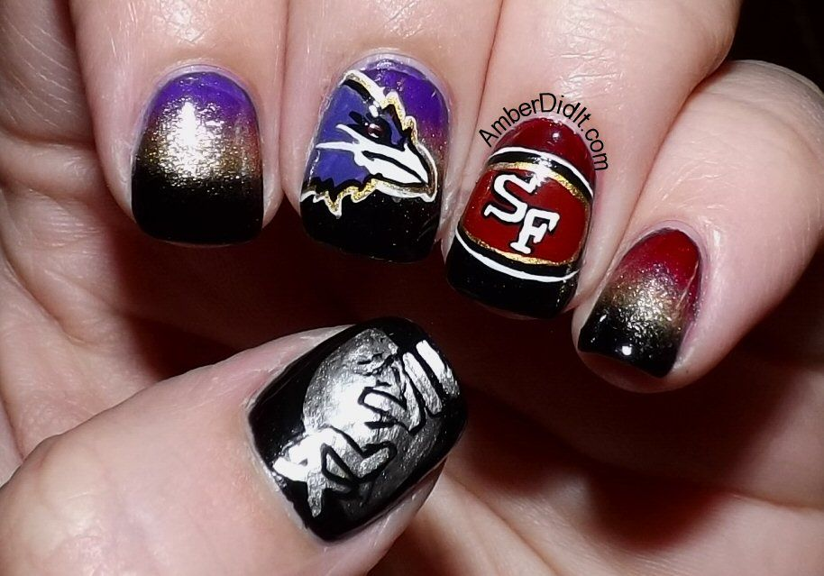 Amber did it!: NFL Nail Art Series #17 ~ Superbowl Edition | LIPS ...
