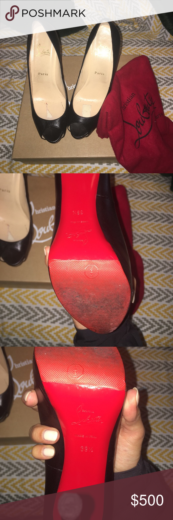 Christian louboutin Black 140 palais royal leather Christian Louboutin Shoes Heels