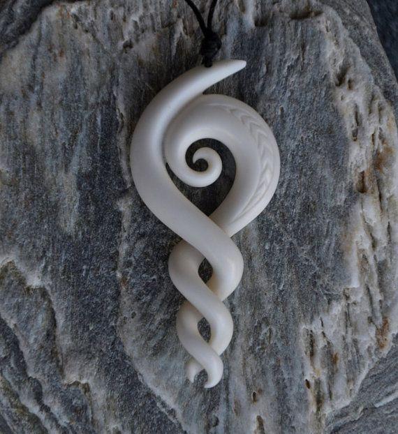 Maori Twist Tattoo: Maori Koru & Celtic Twist Carving Symbolising By