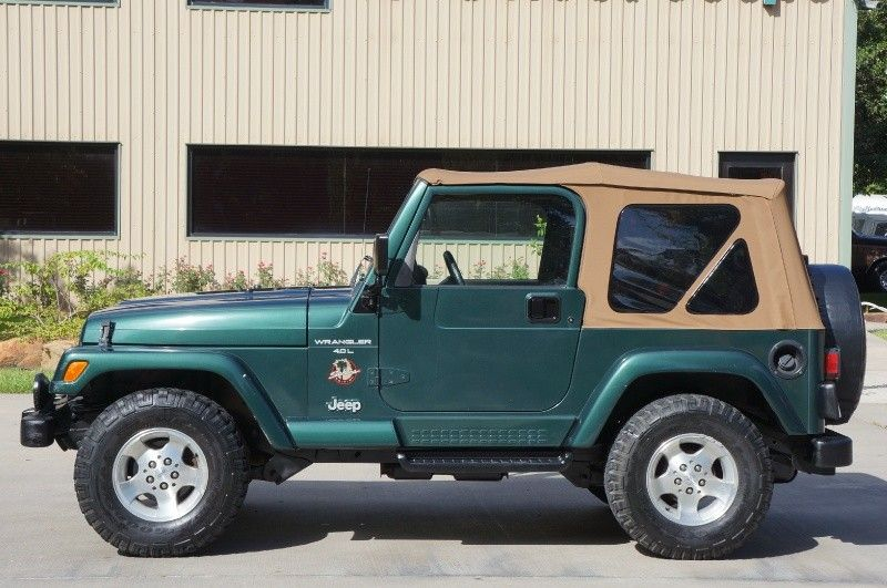 2000 Green Jeep Wrangler Sahara 136k Miles 5 Speed Manual Soft