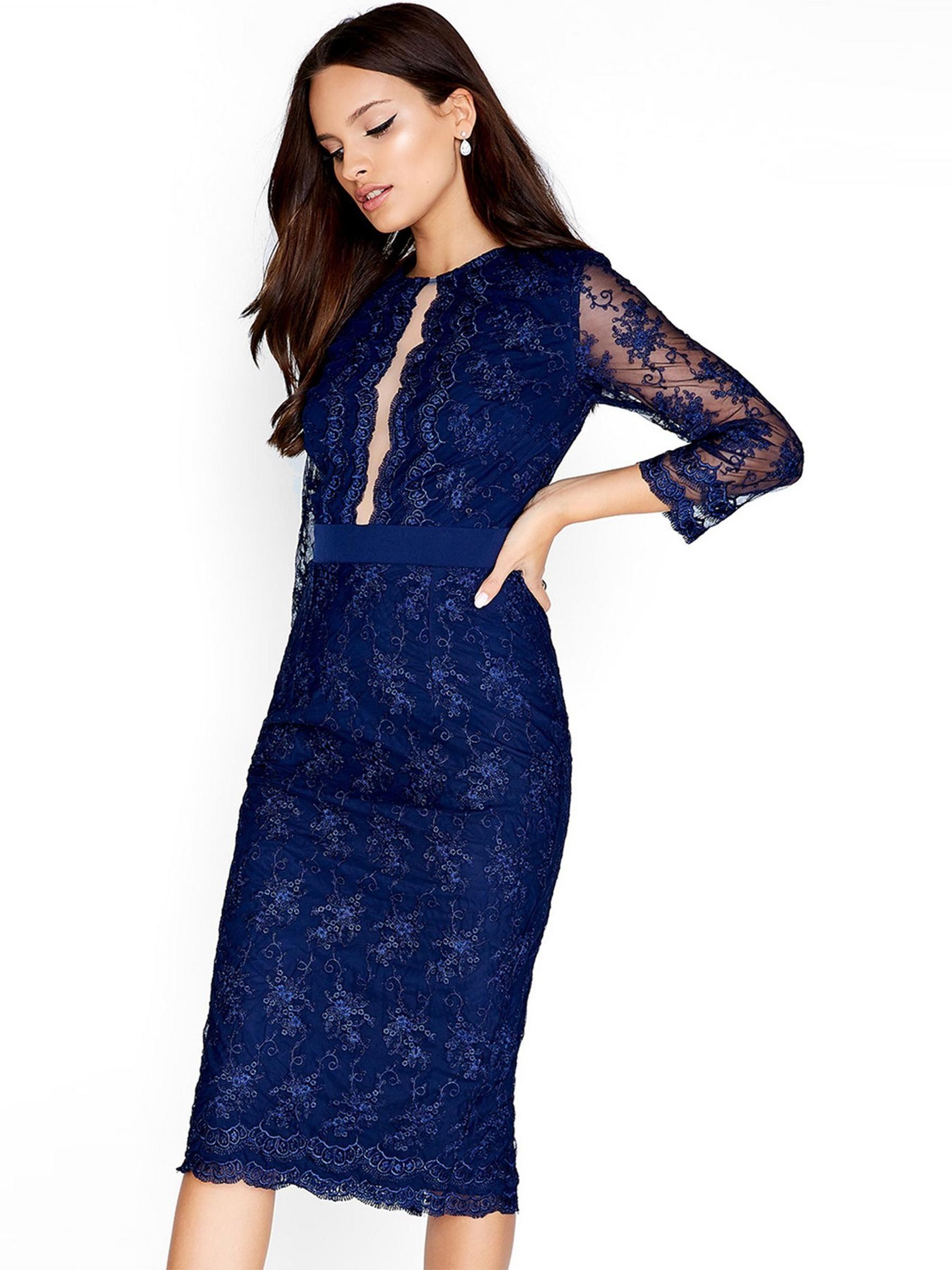 6363e4a1f393 Navy Midi Dress With Sleeves Uk – DACC