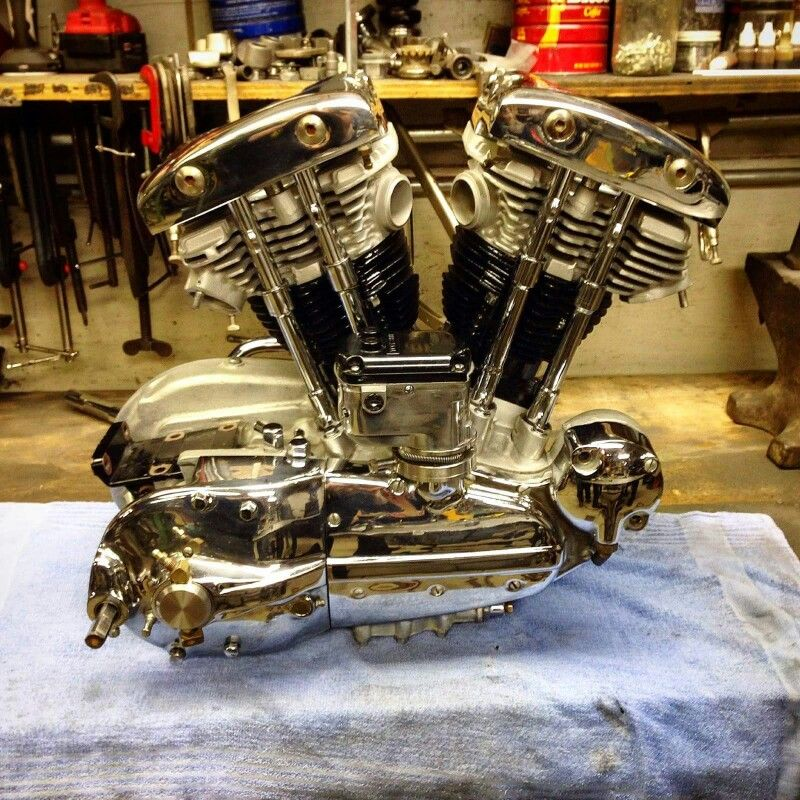 1963 sportster motor with a shovelhead top end   Cool!   Motorcycles