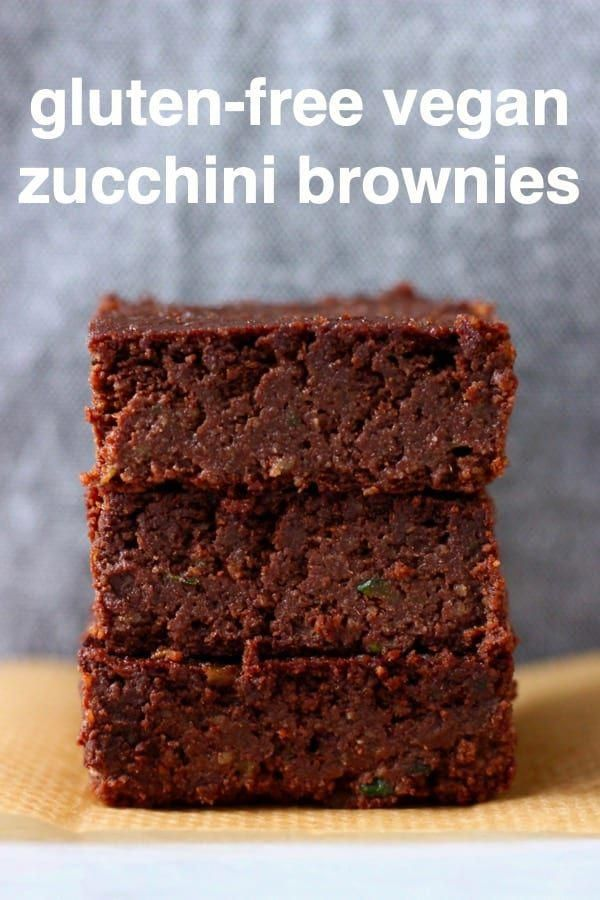These Vegan Zucchini (Courgette) Brownies are rich and fudgy, super moist and secretly healthy. They're satisfying and nutritious too! Dairy-free, egg-free, gluten-free, grain-free, refined sugar free, date-sweetened and oil-free. The best healthy dessert!