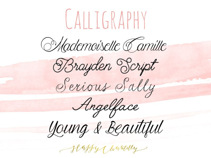 polices calligraphie gratuites - free calligraphy fonts