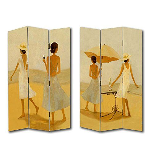 6FT Tall 3 Panel 2 Fold Wine By The Beach Room Divider Ca https