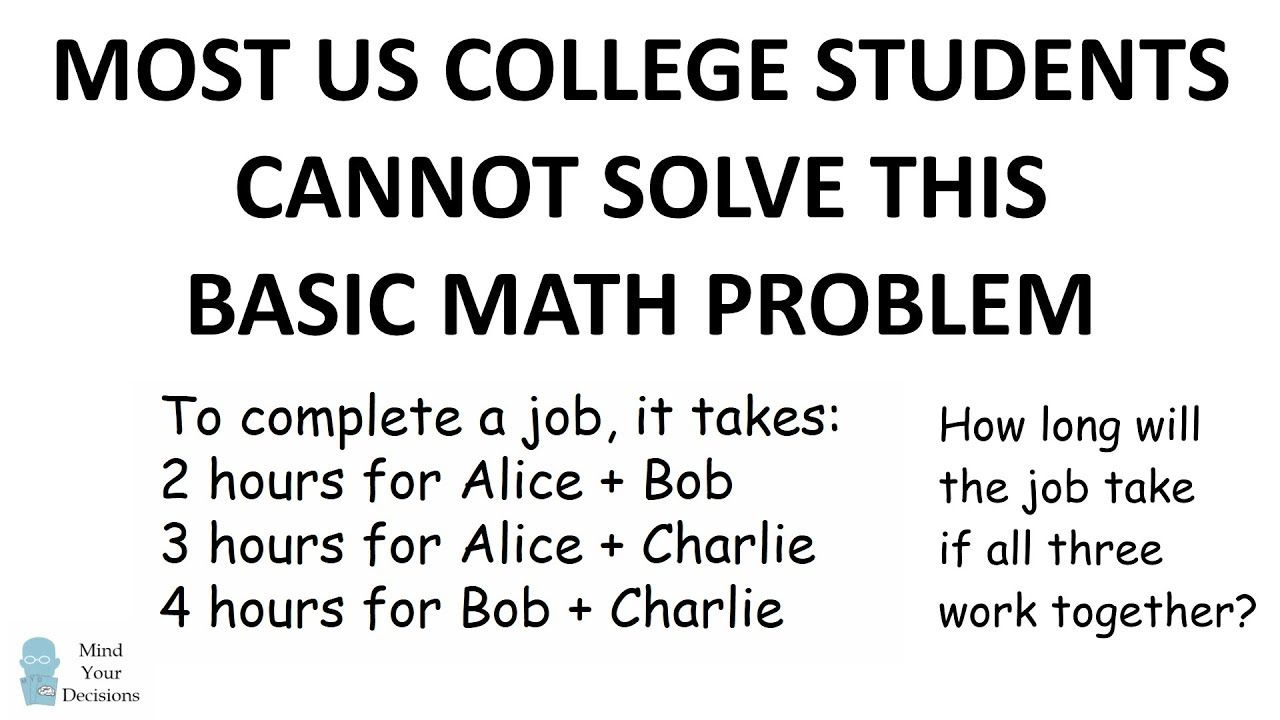 Most US College Students Cannot Solve This Basic Math Problem ...