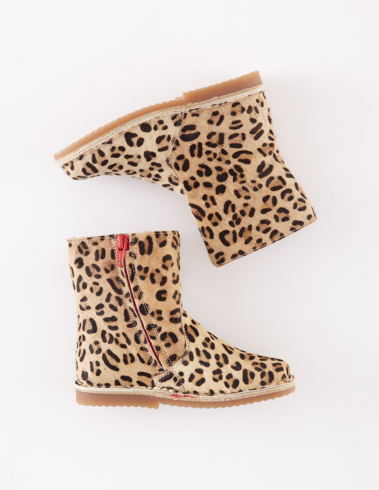 Short Leather Boots (Leopard) | Girls