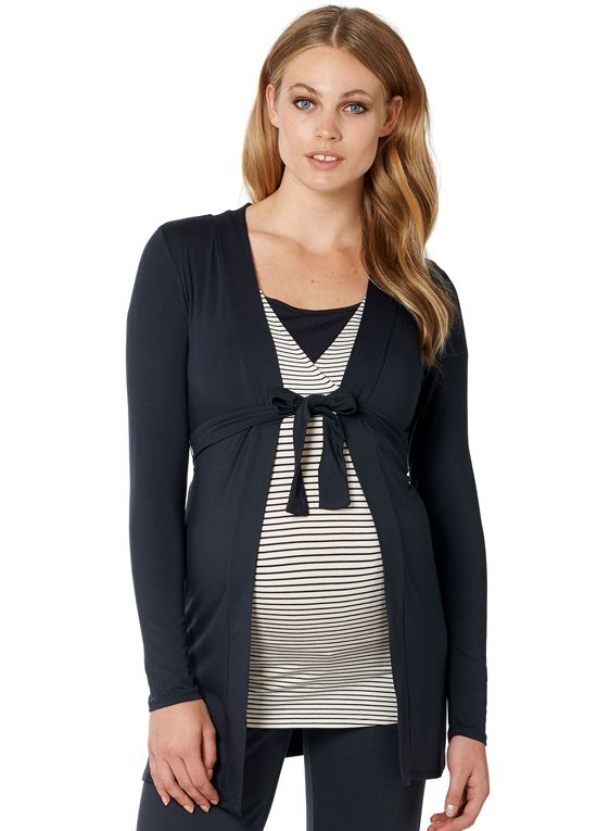 85bcf5fbaa01 New arrival- this #pregnancyessential Noppies - Carline Jersey Cardigan  Stylish Maternity, Maternity Tops