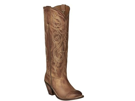 9fce5d75c0b Shop New Lucchese M5012 Vanessa Womens Comanche Leather Tall Western ...