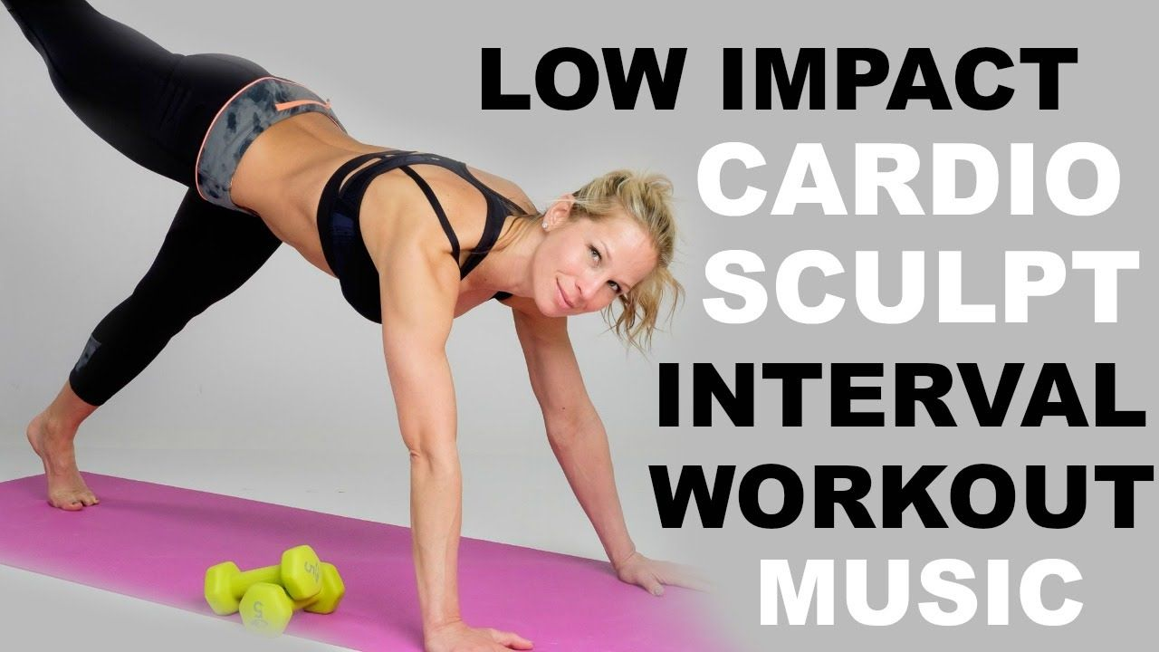 Low Impact Cardio Sculpt Intervals 40 Minute Cardio Weights Workouts O Low Impact Cardio Weights Workout Cardio