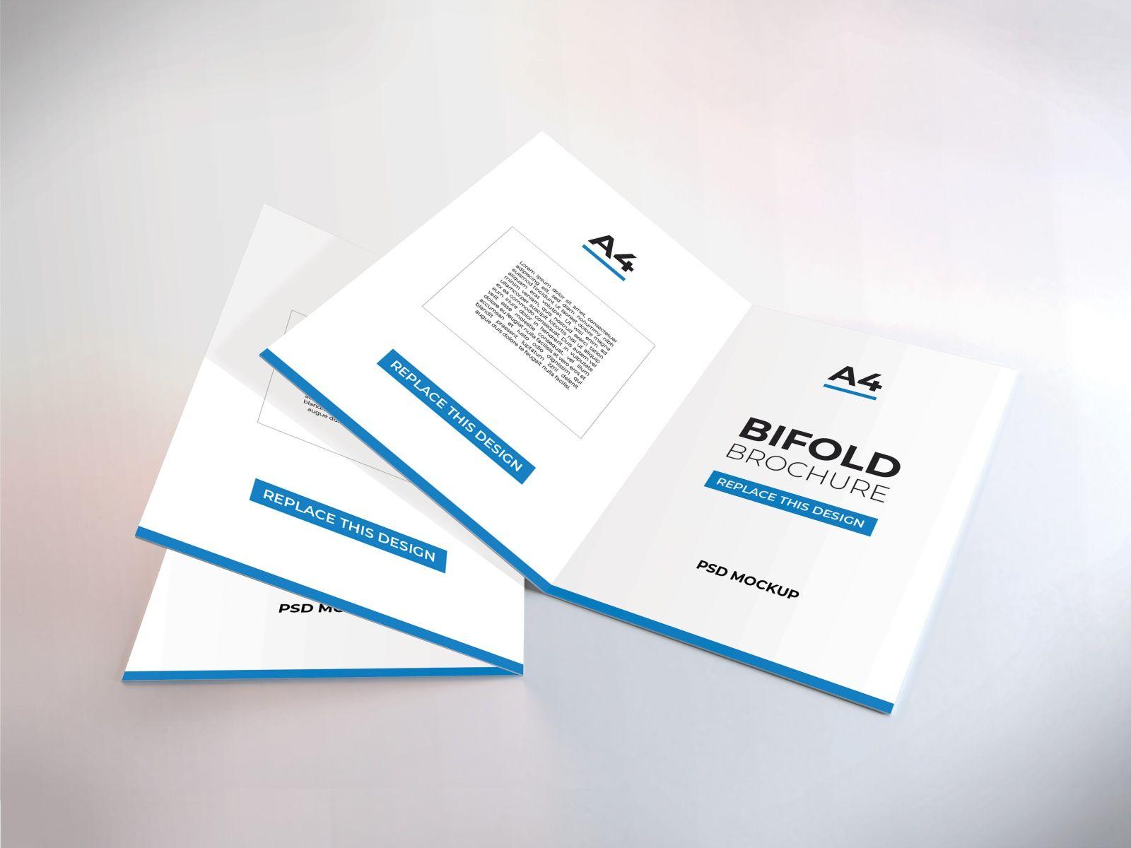 A4 Bifold Brochure Mockup Vol 3 Brochures Mockups Mockup Template Trifold Brochure Template