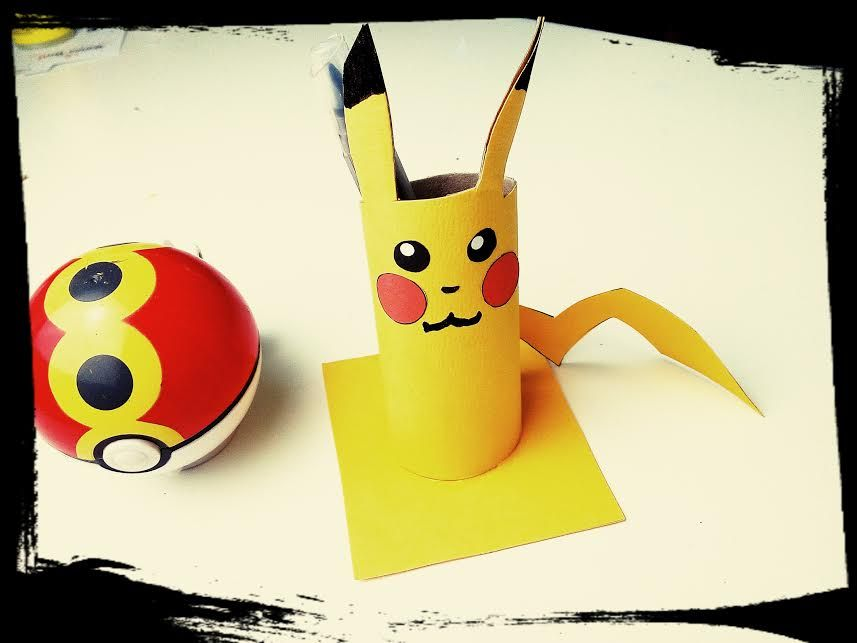 pokemon diy pot pikachu pokemon activit manuelle. Black Bedroom Furniture Sets. Home Design Ideas