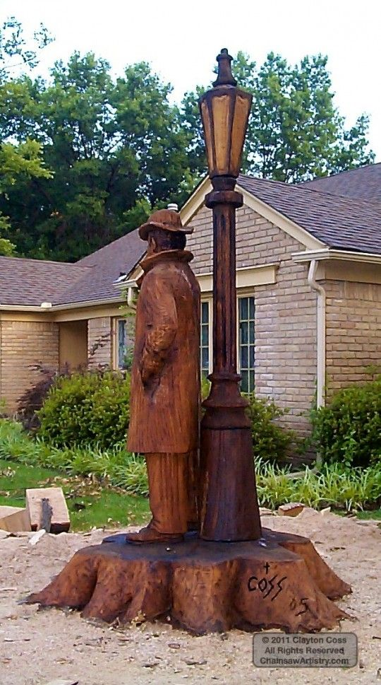 Inanimate objects by clayton coss chainsaw sculpture chainsaw