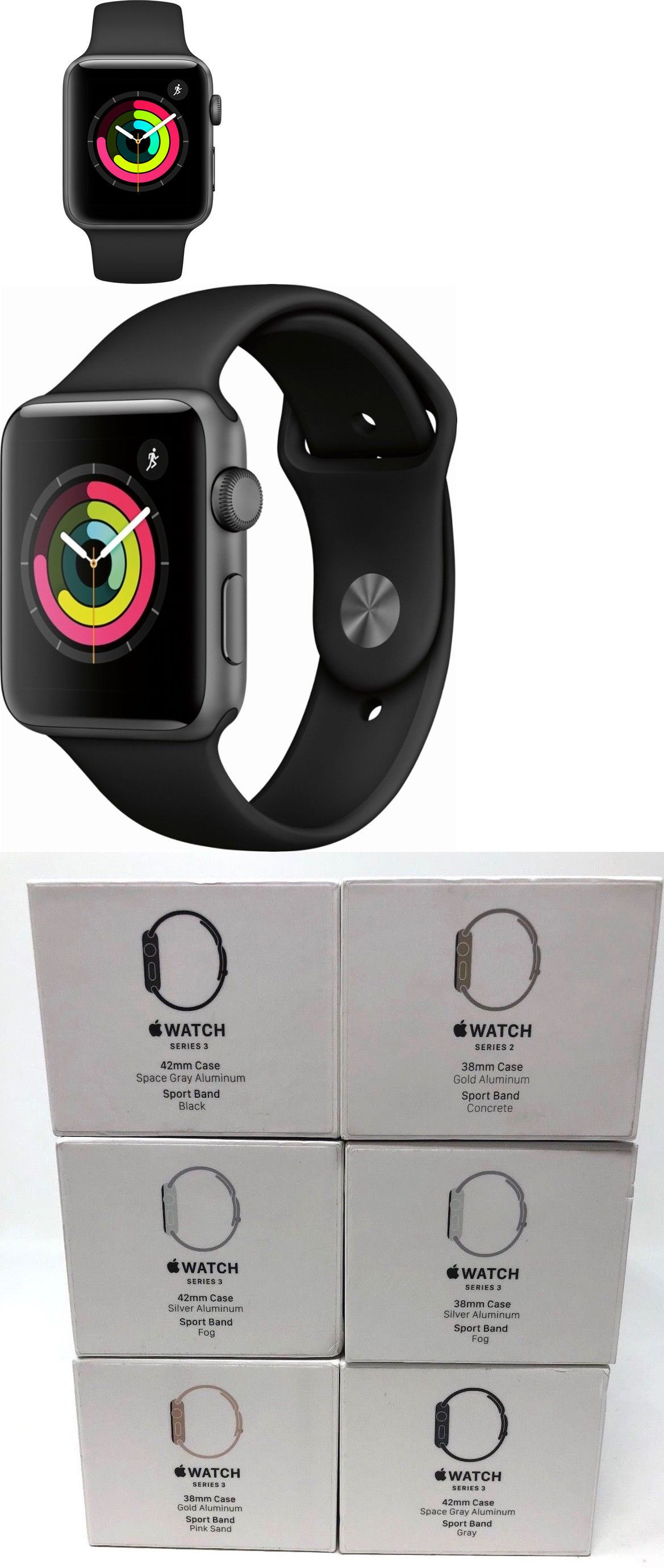 Smart Watches 178893 New Apple Watch Series 3 42mm Space Gray
