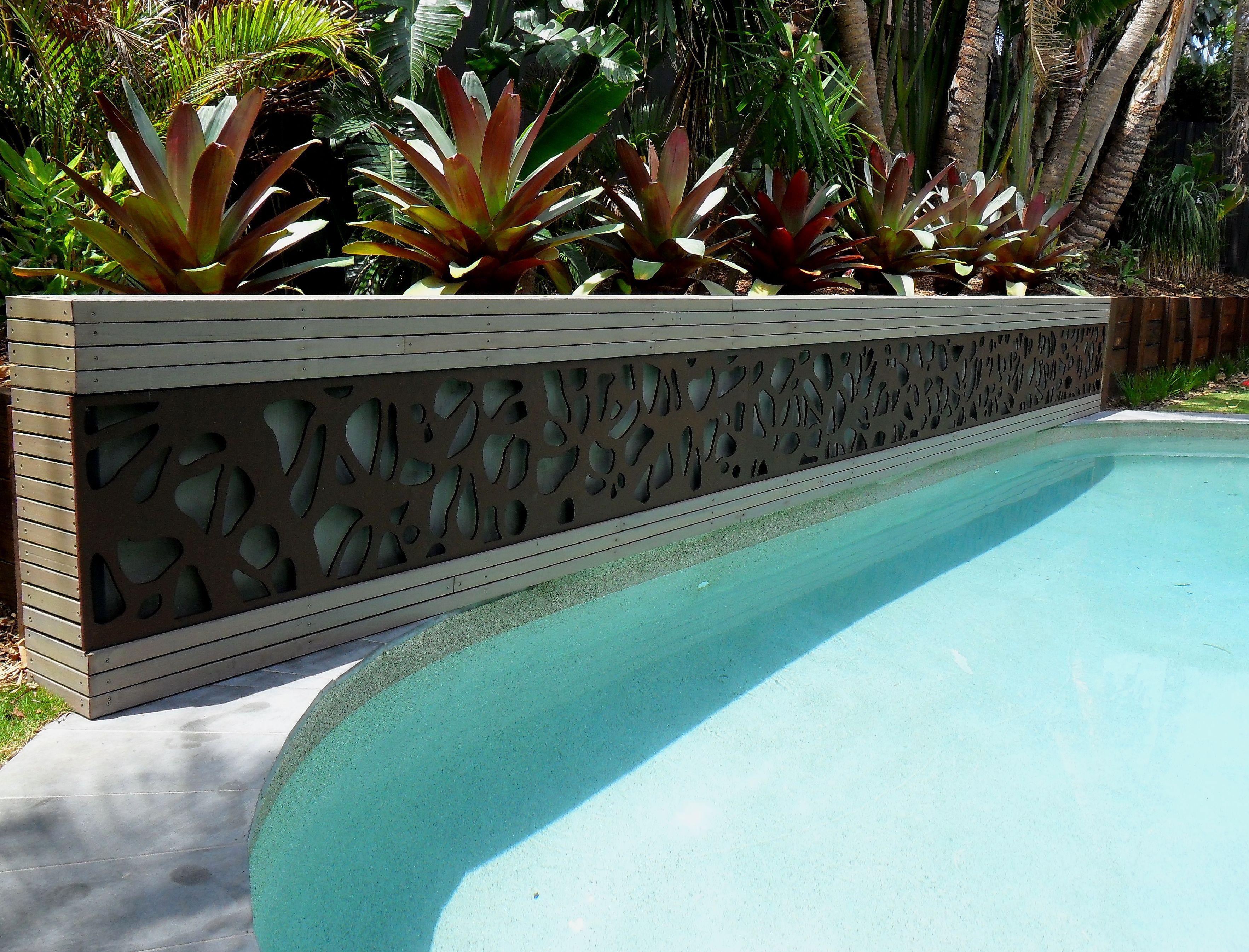 decorative screen pool backdrop decorative outdoor screens