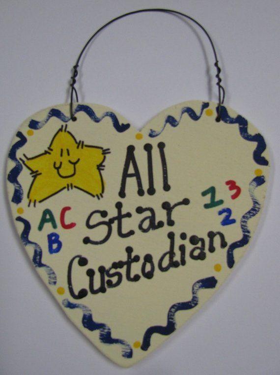 Custodian Teacher Gifts  5045 All Star School Custodian #custodianappreciationgifts