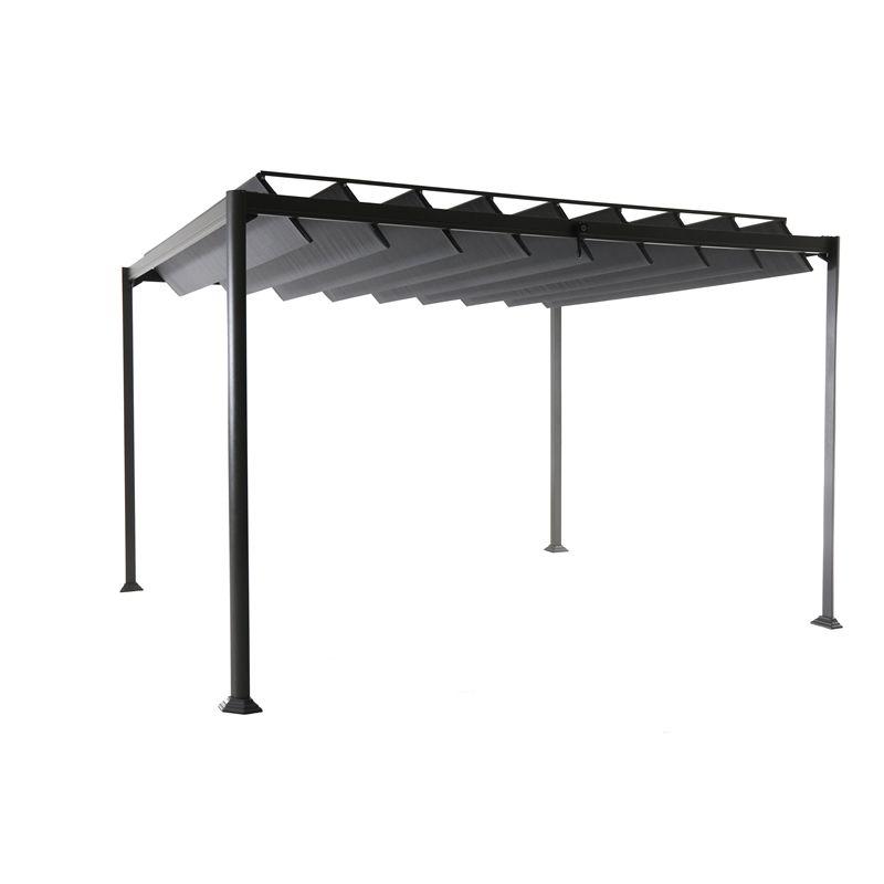 Mimosa 3 X 3 6m Louvre Sun Shelter Gazebo Bunnings Warehouse In 2020 Gazebo Roof Aluminum Gazebo Gazebo