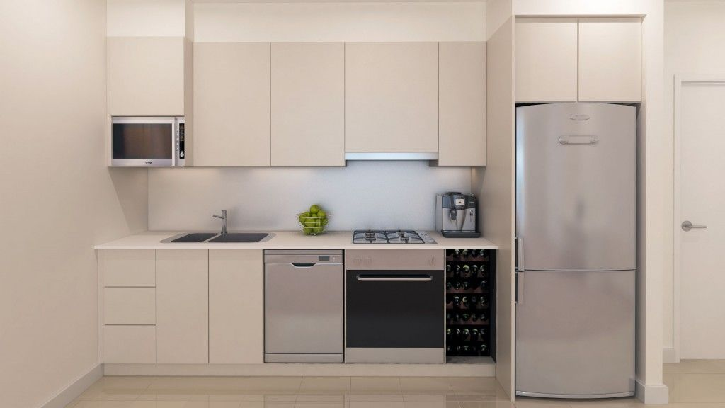 One Line Kitchens Advantages Disadvantages Examples And Pictures For Modern Kitchen Planning Storiestrending Com One Wall Kitchen Kitchen Plans Kitchen Design