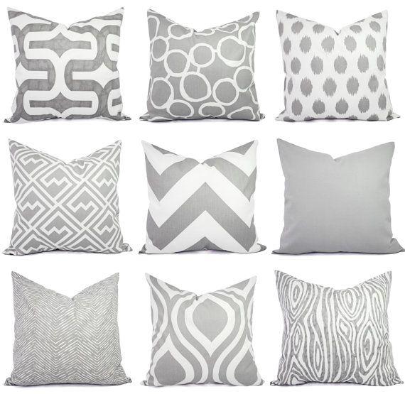 grey throw pillows online