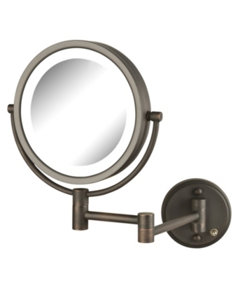 Jerdon The Hl88bzl 8 5 Led Lighted Wall Mount Makeup Mirror